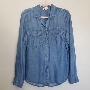 Cloth & Stone chambray long sleeve button shirt